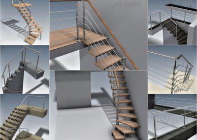 Designové prvky staveb, komplety zábradlí, čepová schodiště apod. (RYS s.r.o. - 1998-2014)
