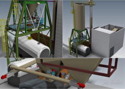Technický projekt dopravy porobetonové drti. (Koncový uživatel - Xella CZ s.r.o.) 2012