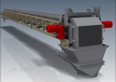 Samonosný vážený pásový dopravník pro technologii dopravy e-sádrovce. (Koncový uživatel - Xella CZ s.r.o.) 2012