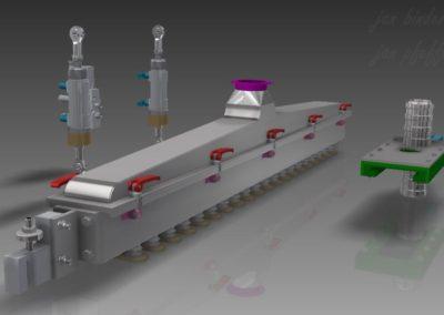 Rekonstrukce části strojní technologie na slepování lineckých rohlíčků. Konstrukční spolupráce - Jan Pfeffer (Koncový uživatel - Pekárny a cukrárny Klatovy a.s.)